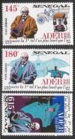 1991 Senegal   Adler Engineer Aviation Automobile Complete Set Of 3  MNH - Senegal (1960-...)