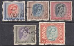 Rhodesia & Nyasaland 1954, Definitive Set 1/3 - 10/=, Used - Rhodesia & Nyasaland (1954-1963)
