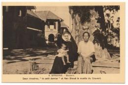 CPA - BASSEIN (Birmanie) - Soeur Anselme, Le Petit Dernier Et Nan Shoué La Muette Du Couvent - Myanmar (Burma)