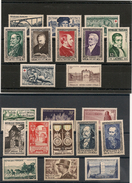 France 1952  Année Complète N°Y/T:919/939** Côte: 116,00 € - 1950-1959