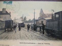 CPA 78 Yvelines Saint Nom La Bretèche Gare Du Tramway - St. Nom La Breteche
