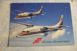 AIRLINE ISSUE / CARTE COMPAGNIE    FLYING ENTREPRISE   SHORT 360 - 1946-....: Era Moderna
