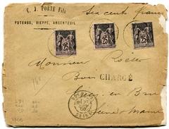 SEINE De PUTEAUX LAC CHARGEE ( Découpée) Du 27/06/1900 - 1877-1920: Semi Modern Period