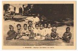 CPA - Maymyo (Birmanie) - Les Bébés à La Crèche - Myanmar (Burma)