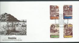 Tonga Niuafo´ou 1985 Jacob Le Maire Mariner Set (4) On FDC - Tonga (1970-...)