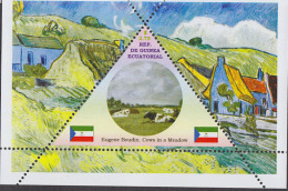 Impressionists Eugene Boudin  1  Sheet   TRIANGULAR STAMP LIMITED EDITION Mint   CINDERELLA - Impressionisme