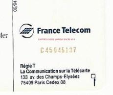 F476   6 JUIN 44   COURSEULLES SUR MER  06/94   SC7   C + 8 N° ROUGES  UTILISEE DESCRIPTION - France