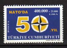 Turkey 2002 NATO - The 50th Anniversary Of The Turkey's Membership Of North Atlantic Treaty Organization.MNH - 1921-... Republic