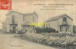 44 Le Croisic, Café Belle-Vue, Maison Gatineau-Royer, Animée, Carte Pas Courante - Le Croisic