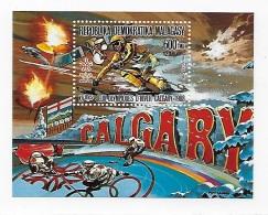 Malagasy 1987 1988 Calgary Winter Olympics S/S MNH - Madagascar (1960-...)