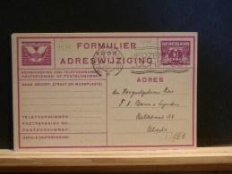 63/960  FORMULIER ADRESWIJZIGING  1935 - Postal Stationery