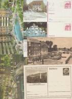 L'eau, 8 Entiers Postaux Différents, Et Une Feldpostkarte. Carnet De 3 Cartes De Chine, Péniches, Samovar, Piscine, Mer
