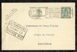 ENTIER POSTAL . CARTE POSTALE DATEE DU  :  21  JUIN  1935 . - Entiers Postaux