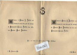 VP6283 - Faire Part De Mariage Mr M.JOUDAINE & Melle G.SAILLET à FONTAINE AU ROI - Mariage