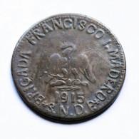 México - Puebla - 20 Centavos - 1915 - México