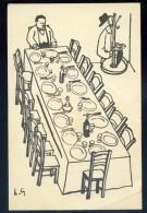 Cpa  Illustrateurs De Presse Invitation Au Dîner Des Mill Col Rue Lepic Paris Illustrateur Henri Guilac Autographe JIP56 - Unclassified