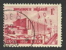 Belgium,  1 F. 1938, Sc # 319, Mi # 483, Used - Belgium