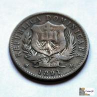 Dominican Republic - 10 Centésimos De Franco - 1891A - Dominikanische Rep.