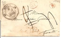 LETTRE DEPART DE RIEUX OR POUR SAINT PONS 8 MAI 1844  TOULOUSE LE 9 MAI - 1801-1848: Précurseurs XIX