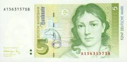 5 Deutsche Mark, 01.08. 1991, Ro. 296 A, Serie A, UNC ! - 1949-…: BRD