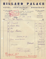 Billard Palace Anvers Hôtel Brasserie Restaurant Vers Brasserie Des Peupliers - Levensmiddelen