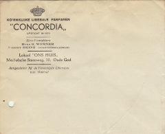 Enveloppe Concordia Fanfaren Fanfare Libérale Royale - Belgium