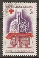 MALI    -    CROIX-ROUGE. -  1965.  Y&T N° 79 Oblitéré.  Lutte Anti-Tuberculeuse - Rotes Kreuz