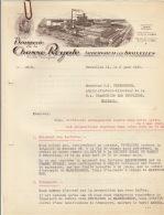 Courrier En 3 Pages Brasserie De La Chasse Royale Vers Brasserie Les Peupliers - Belgium