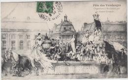 BORDEAUX FETE DES VENDANGES CHAR DE LA REINE DES VENDANGES 1909 TBE - Bordeaux