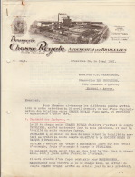 Courrier En 3 Pages Brasserie De La Chasse Royale Auderghem Vers Brasserie Les Peupliers Anvers - Belgium