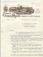 Courrier En 2 Pages Brasserie De La Chasse Royale Auderghem Vers Brasserie Les Peupliers Anvers - Belgium