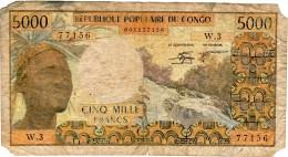 REPUBLIQUE POPULAIRE DU CONGO 5000 FRANCS W 3 ND (1981) - Congo