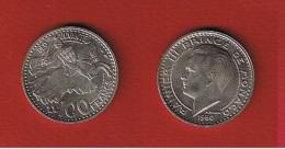 Monaco  --  100 Francs 1950  --  état  SUP - 1949-1956 Anciens Francs
