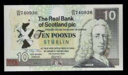 Test Note?, Schottland  10 Poonds, Testnote?, Beids. Druck, RRRR, UNC, 160 X 90 Mm, Trial, Design-Studie? Play Money? - Regno Unito
