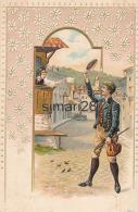 CARTE FANTAISIE ALLEMANDE - MUSS I DENN ZUM STADTLE NAUS (GENRE GAUFRETTE) - Fancy Cards