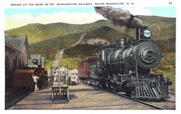 TRAIN At THE BASE Of MOUNT WASHINGTON RAILWAY - WHITE MOUNTAINS - N. H. - ANNÉE / YEAR ~ 1930 - '35 (v-240) - White Mountains