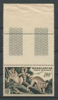 MADAGASCAR 1954 PA N° 77 ** Neuf = MNH  Superbe Cote 34,20 € Faune Lémuriens Fauna Animaux - Madagaskar (1889-1960)