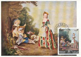 D26886 CARTE MAXIMUM CARD 1971 SHARJAH - BY WATTEAU CP ORIGINAL - Künste