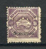 Nouvelle Galles Du Sud - N° 65 * - Neuf Avec Charnière - Spécimen - Mint Stamps