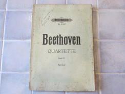 Beethoven Quartette Band 4 Partitur - Klassik