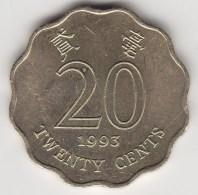 @Y@   Hong Kong  20 Cents  1993     (3715) - Hong Kong