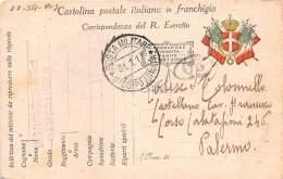 Storia Postale - Italia Regno 1917 - Cartolina Postale Franchigia Militare - Italia