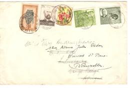 Lettre De L'Île Maurice Curepipe En 1952 V.Luluabourg Congo Belge Réaffranchie&réexpédiée V.Bruxelles PR3623 - Congo Belge