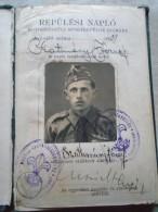 D143044  Hungary  Scouts  Scutisme - Flight Log  Flugbuch Carnet De Vol - Cserkész Repülök Hármashatárhegy 1939 - Old Paper