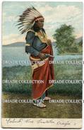 CARTOLINA INDIANI NORD AMERICA INDIAN NATIVE AMERICAN VIAGGIATA ANNO 1907 - Indiani Dell'America Del Nord