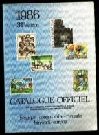 Catalogue Officiel C.O.B.   (FR) 1986 - Timbres De Belgique, Congo, Burundi, Ruanda-Urundi, Burundi, Katanga, EUROPA. - Belgique