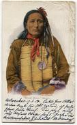 CARTOLINA SHORT BULL CHIEF INDIANI DAKOTA AMERICA INDIAN NATIVE AMERICAN VIAGGIATA ANNO 1904 - Indiani Dell'America Del Nord