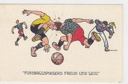Des Fussballspielers Freud Und Leid - Sign. Kutzer     (PA-5-101018) - Fussball