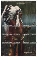 CARTOLINA INDIANI AMERICA INDIAN WARRIOR AND HUNTER GLACIER NATIONALE PARK MONTANA NATIVE AMERICAN ANNO 1912 - Indiani Dell'America Del Nord