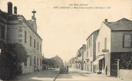 -ref-N532- Tarn -  Cagnac - Rue Jean Jaures Et Ecoles - Ecole -  Magasin Epargne - Magasins - Voir Etat - - France